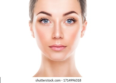 Portrait of a beautiful woman with perfect skin. Stock Photo