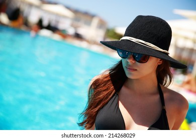 Portrait of a beautiful woman relaxing outdoors