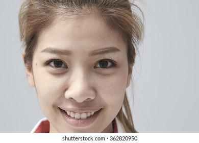 Portrait of beautiful woman smiling