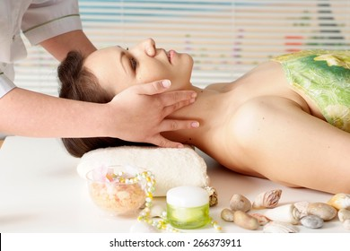 Portrait of a beautiful woman  in the spa