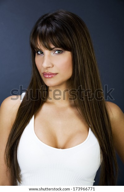 Portrait of a beautiful women with big boobs