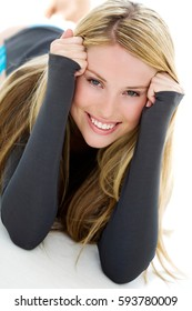 Portrait of beautiful young blond woman