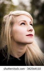 Portrait of a beautiful young blonde woman
