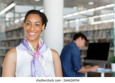 Portrait of a beautiful young businesswoman in an office