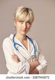 Portrait of a beautiful young female doctor