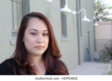 Portrait of a Beautiful young Filipino woman with copy space