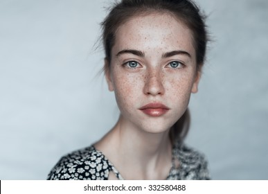 portrait of a beautiful young girl