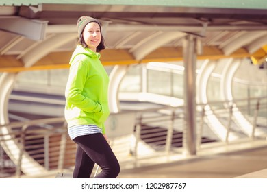 Portrait beautiful young girl russian enjoying smell traval in winter bangkok city thailand