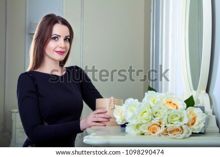 681e2a2d6da Portrait Beautiful Young Smiling Brunette Woman Stock Photo (Edit ...