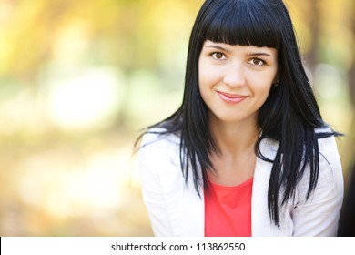 portrait of a beautiful young teenager woman