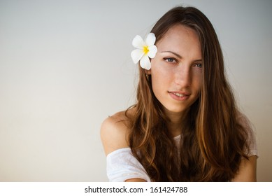The portrait of beautiful young woman