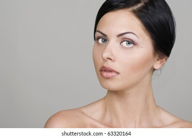 Portrait of beautiful young woman.