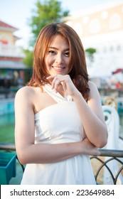 Portrait of a beautiful young woman at The Venezia Hua Hin, a sh