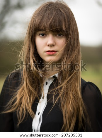 Portrait Beautiful Young Woman Wearing Black Stock Photo (Edit Now ... 9bc04048dc47