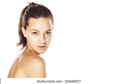 portrait of beautifull young girl without make up