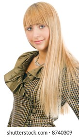 portrait beauty blonde woman with long hair
