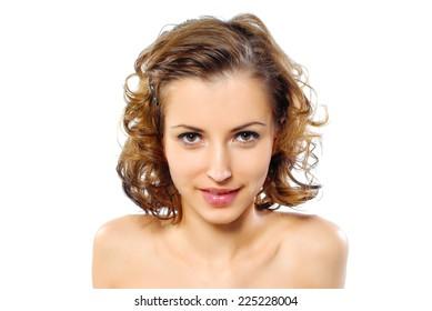 Portrait of beauty model with healthy skin