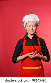 portrait of beauty young cook