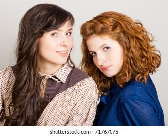 portrait of beauty young women, friends