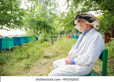 portrait of a beekeeper. Sit back and enjoy watching your apiary