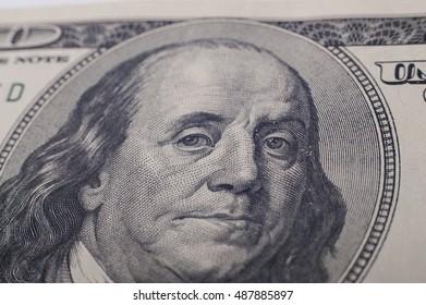 portrait of Benjamin Franklin on the 100 dollars1