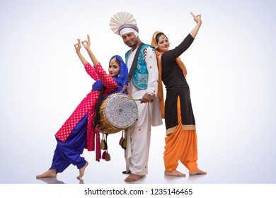 Portrait Of Bhangra Dancers