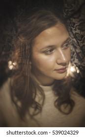 Portrait with Black Lace