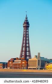 Portrait Blackpool Tower, Blackpool, Lancashire, England, UK