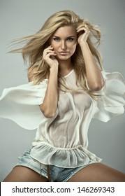 Portrait of a blond beauty