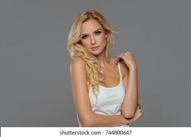 Portrait of blond  model