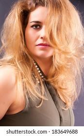 Beautiful blonde busty