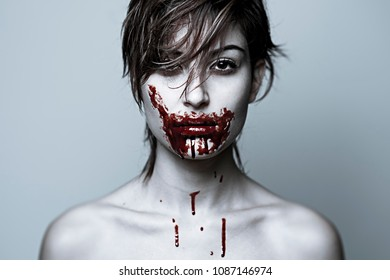 portrait with blood