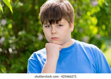Portrait of boy of about 12 years in Oak Park