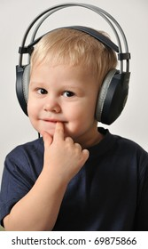 Portrait of a Boy in the headphones