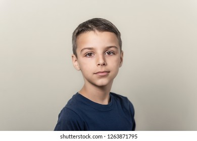 portrait of a boy isolated on a white background