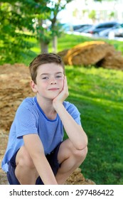 Portrait of a boy in park
