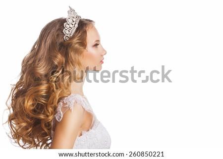 Portrait Bride Tiara Wedding Hairstyle Makeup Stock Photo Edit Now