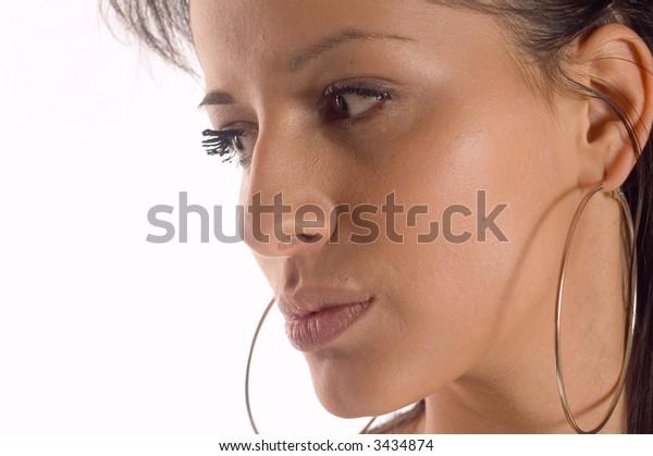 Portrait of a brunette fashion woman Marija