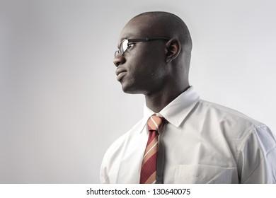 portrait of business black man