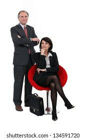 portrait of business duo
