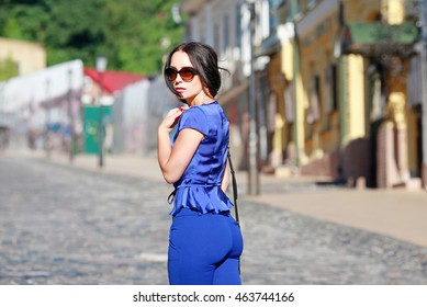 Portrait of business lady in the streets