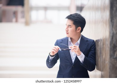 portrait of business man, asia business style
