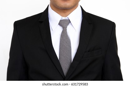Portrait of a business man, isolated on white background