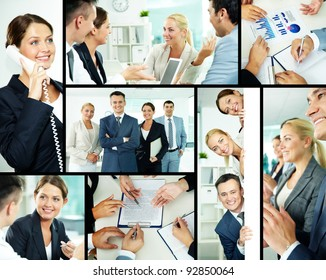 Portrait of business partners looking at camera with smiles