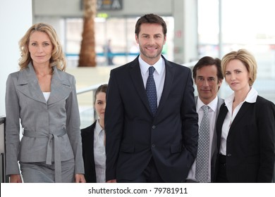 portrait of a business team