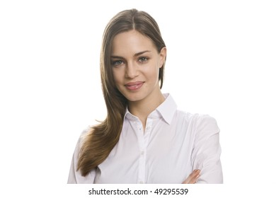 Portrait business women isolated