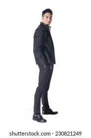 Portrait of business young man of Asian, full length portrait