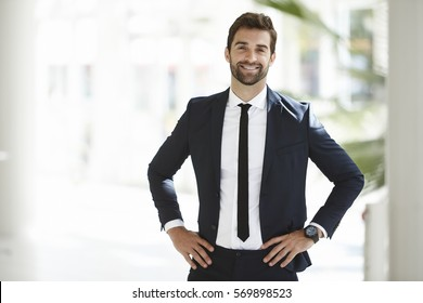 Portrait of businessman in confident pose