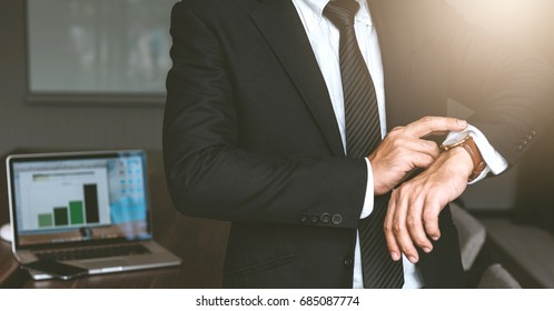 Portrait of businessman with businessman fitted suit for start working in office space