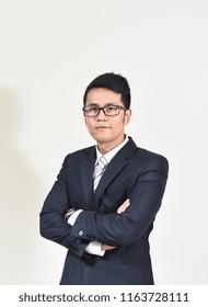 portrait of businessman isolated white background